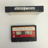 Ramón Velez Interview, Tape 1