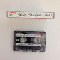 Alice Cardona Interview, Tape 1