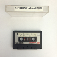Anthony Alvarado Interview, Tape 1